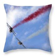 Patrouille De France Throw Pillow