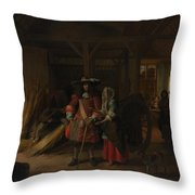 Paying The Hostess Throw Pillow