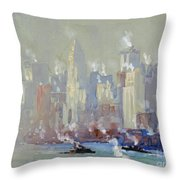 Pennell, New York City.  Throw Pillow