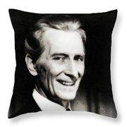 Peter Cushing, Vintage Actor Throw Pillow