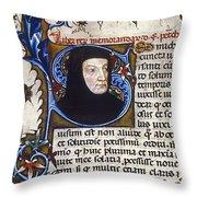 Petrarch (1304-1374) Throw Pillow