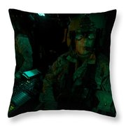 Pilots Equipped With Night Vision Throw Pillow