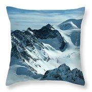 Pitztal Glacier Throw Pillow