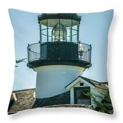 Point Pinos Lighthouse In Monterey California Throw Pillow