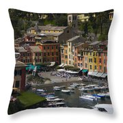 Portofino In The Italian Riviera In Liguria Italy Throw Pillow