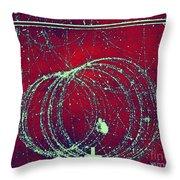 Positron Tracks Throw Pillow by Omikron