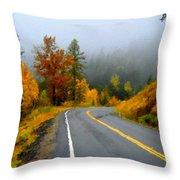 Poster Landscape Throw Pillow