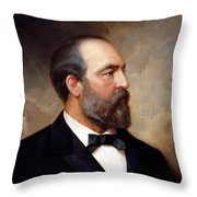 President James Garfield Painting Throw Pillow