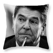 President Ronald Reagan - Three Throw Pillow