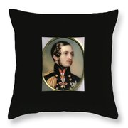 Prince Albert Henry Pierce Bone Throw Pillow