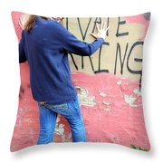 Private Parking. Throw Pillow