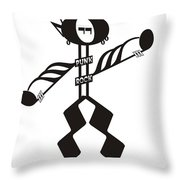 Punk Rock Throw Pillow