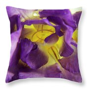 Purple Freesia Throw Pillow