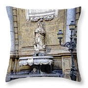 Quattro Canti In Palermo Sicily Throw Pillow