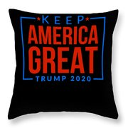 Reelect Trump For President Keep America Great Dark Throw Pillow