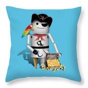 Robo-x9 The Pirate Throw Pillow