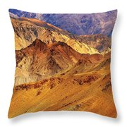 Rocks And Stones Mountains Ladakh Landscape Leh Jammu Kashmir India Throw Pillow