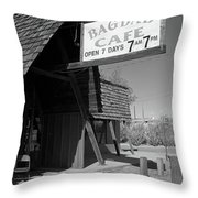Route 66 - Bagdad Cafe Throw Pillow