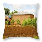 Rural Landscape In Tanzania Throw Pillow