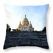Sacre Coeur Throw Pillow by Riad Belhimer
