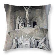 Sagrada Familia - Gaudi Designed - Barcelona Spain Throw Pillow