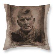 Samuel Beckett 02 Throw Pillow