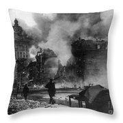 San Francisco Earthquake Throw Pillow