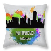 San Francisco Skyline Silhouette Throw Pillow