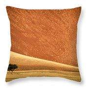 Sand Dune, Sossusvlei, Namib Desert Throw Pillow