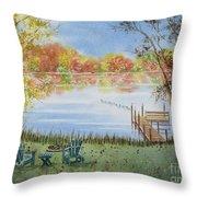 4 Seasons-autumn Throw Pillow