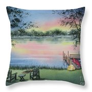 4 Seasons-spring Throw Pillow