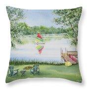 4 Seasons-summer Throw Pillow