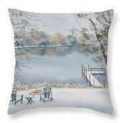 4 Seasons-winter Throw Pillow