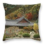 Seonamsa In Autumn Throw Pillow