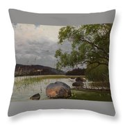 Shore Landscape Throw Pillow