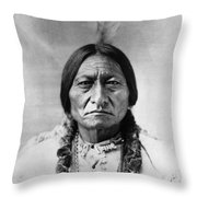 Sitting Bull 1834-1890. To License For Professional Use Visit Granger.com Throw Pillow