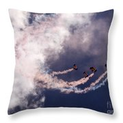 Sky Surfing Throw Pillow