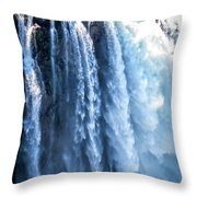 Snoqualmie Falls Washington State Nature In Daylight Throw Pillow