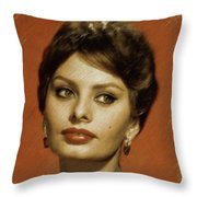 Sophia Loren, Vintage Actress Throw Pillow