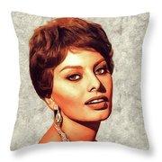 Sophia Loren, Vintage Movie Star Throw Pillow