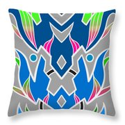 4 Space Ship Formation Throw Pillow