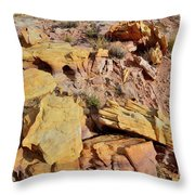 Splash Of Color In Valley Of Fire Throw Pillow