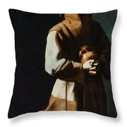 St Francis Of Assisi Throw Pillow by Granger