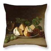 Still Life With Cake Throw Pillow
