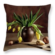 Still Life With Tulips Throw Pillow