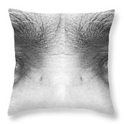 Stormy Angry Eyes Throw Pillow