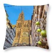 Strasbourg,christmas Market, Alsace France  Throw Pillow