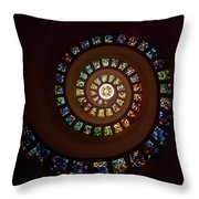 Thanksgiving Chapel Stained Glass Throw Pillow