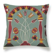 """Study For Proposed Portfolio """"decorated Chests Of Rural Pennsylvania"""" Throw Pillow"""
