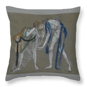 Study Of Two Dancers Throw Pillow